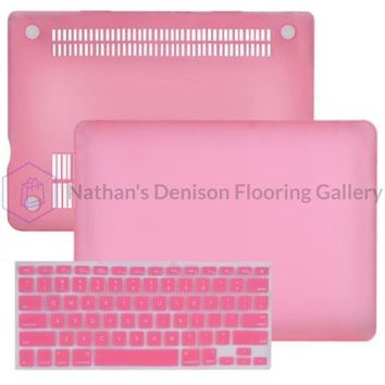 SlickBlue Rubberized Hard Case for 13 MacBook Pro w/Keyboard Cover (Baby Pink)