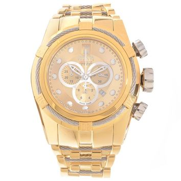 Invicta 16004 Men's Jason Taylor Bolt Zeus Gold Tone Dial Gold Steel Chronograph Dive Watch