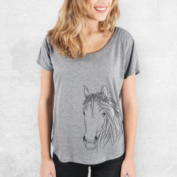 Aria the Horse - Tri-Blend Women's Dolman Shirt