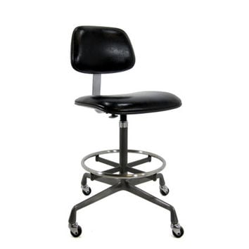 SALE - Vintage Eames Ec428 Operational Stool - Authentic Herman Miller - Drafting Chair Swivel Industrial - Rare