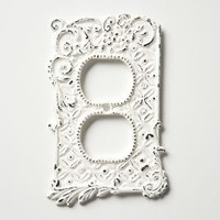 Tin Roof Outlet Cover by Anthropologie in White Size: Outlet Hardware