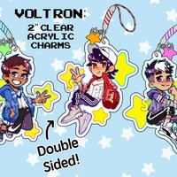 Voltron: clear acrylic charms by King Kyabetsu