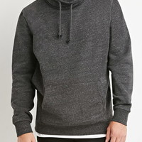 Heathered Funnel Neck Sweatshirt
