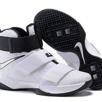 Nike LeBron Soldier 10 EP White/Black Basketball Shoes US7-12