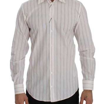 Pink Striped STAFF Regular Fit Dress Shirt
