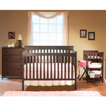 Walmart: Sorelle Petite Paradise 4-in-1 Crib, Changing Table with Hamper and 4-Drawer Dresser, Cherry