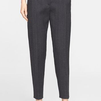 Women's Donna Karan New York Pinstripe Flannel Pants,