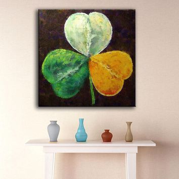 Wall Art large size New sale Paintings irish-shamrock Home Decorative Wall Art Picture For Living Room painting no frame