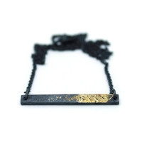 Gold Dust Bar Necklace