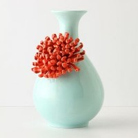 Curvy Chrysanthemum Vase by Anthropologie Mint One Size Vases
