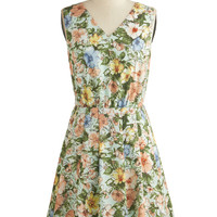 ModCloth Mid-length Sleeveless A-line Paint Me a Picturesque Dress