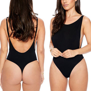 Women Sexy Backless Swimwear Beachwear One Piece Monokini Bathing Suit Swimsuit