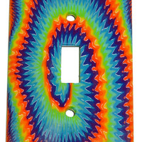 Psychedelic - Metal - Light Switch Plate