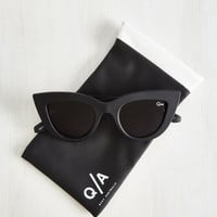 Kitti Sunglasses in Noir by Quay from ModCloth