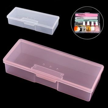 Shellhard 1pc Nail Storage Box Plastic High Quality Transparent Manicure Tool Nail Art Empty Container Storage Boxes Organizer