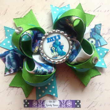 Monsters University Boutique Hair Bow by OhSoLovelyBows on Etsy
