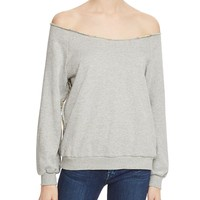 Rebecca MinkoffZiering Off-The-Shoulder Sweatshirt