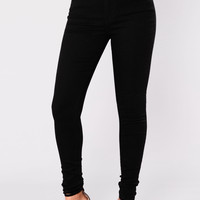 Scottsdale High Waist Skinny Jeans - Black