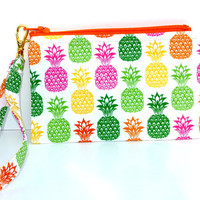 If you like Piña Coladas: wristlet, small zippered pouch, clutch, small purse, keychain is detachable