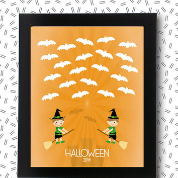 Halloween Guest Book INSTANT DOWNLOAD decor guestbook signature / printable pdf / door decorations ideas Baby Shower children party birthday