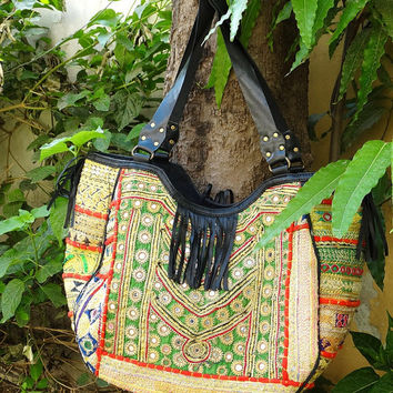 Indian Tribal Designer Cotton banjara Hand Bag With Marvelous banjara work with handmade embroidery work leather banjara bags leather bags