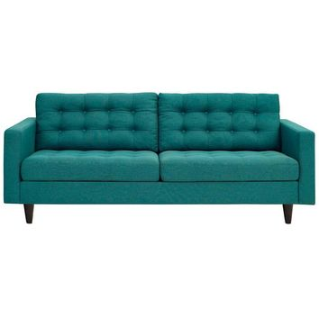 DEMPSEY UPHOLSTERED SOFA IN TEAL