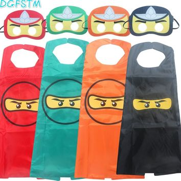 Batman Dark Knight gift Christmas ninjago Super hero man spiderman batman capes with masks for kids birthday party supplies - party favor clothing set for 2-10Y AT_71_6