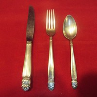 Danish Princess Silverplate 3 piece  Youth Place Setting, Silver-plate Flatware  By International Silver (1479)