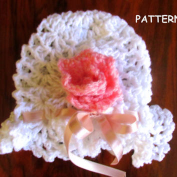Hat pattern, crochet pattern, instant download ,Baby Crochet Hat Pattern  - Newborn up to 12 months - Newborn Baby Hat, Photo Prop