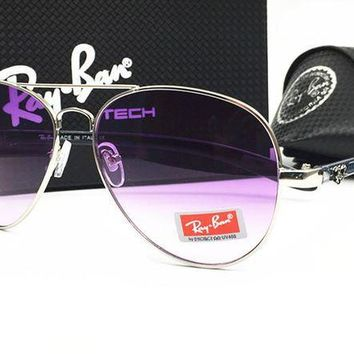 Hot Sale Ray Ban Fashion Women Men Casual Summer Sun Shades Eyeglasses Glasses Sunglasses Fine Frame Purple+Steel Color Frame I-MYJ-YF