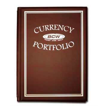 BCW COMBO ALBUM – CURRENCY – BURGUNDY