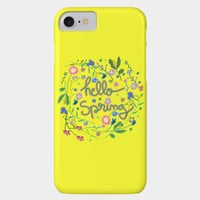 Hello Spring Phone Case By Sagaciousdesign Design By Humans