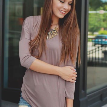 First Class Top - Taupe