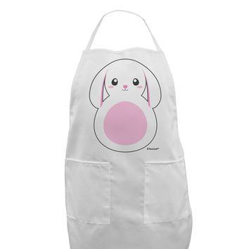 TooLoud Cute Bunny with Floppy Ears - Pink Adult Apron