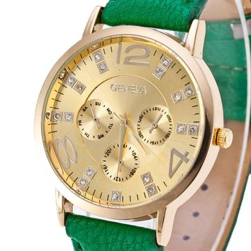 New arrive Double Layer Dial Fashion Wristwatch