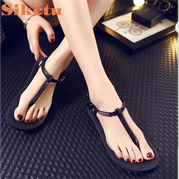 siketu Best Gift New Fashion Women Girl Sandals Summer Shoes Simple drop ship beach S