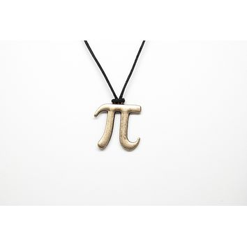 Pi Symbol Unisex Necklace with Rope