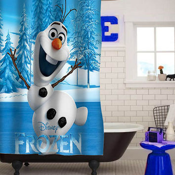 olaf disney frozen Shower Curtains custom shower curtain