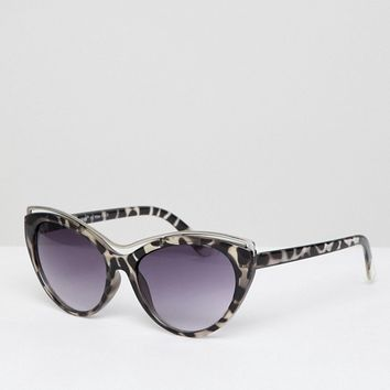 AJ Morgan cat eye sunglasses with faded lens in tort at asos.com