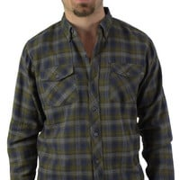 Burnside Men's Softener Plaid Flannel Shirt Button Up