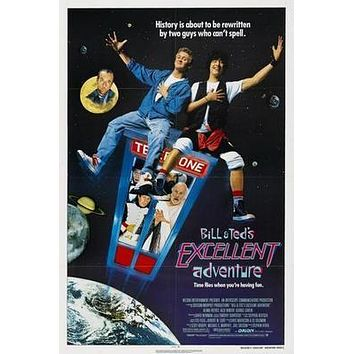 Bill And Teds Excellent Adventure Movie poster Metal Sign Wall Art 8in x 12in