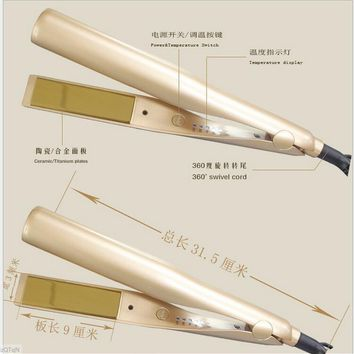 hair curler curling iron professional Tymee hair wipers curler salon quality 2-in-1 fast straightener iron