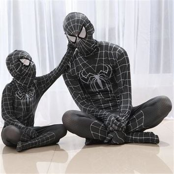 Superhero spiderman homecoming kids adult black Spider Man Cosplay costumes Lycra Spandex Spider-Man Cosplay zentai Jumpsuits