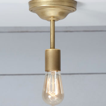 Brass Ceiling Light - Semi Flush Mount