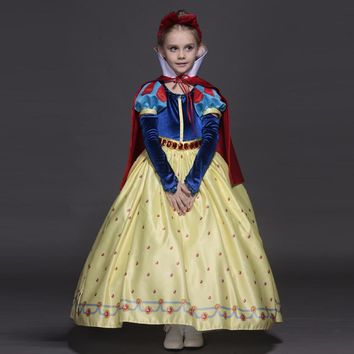 New High quality Kids princess sofia dress for baby girls snow White Cosplay Costume children Carnival party tutu dresses