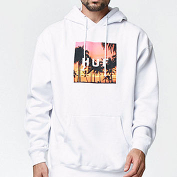 HUF Sunset Box Logo Hoodie at PacSun.com