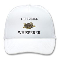 The Turtle Whisperer Mesh Hats from Zazzle.com