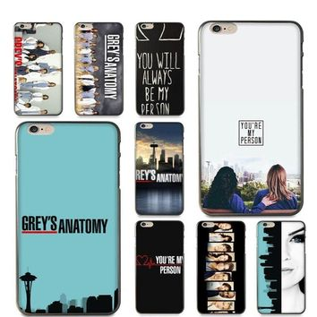 Soft silicone cases iPhone 5/5S/SE 6/6S 6+/6S+ 7/7+ 8/8+ X/10 Grey's Anatomy