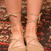 Laced With Love Flats, Taupe