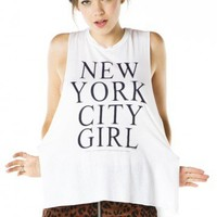Brandy ♥ Melville |  NYC Girl Tank - Graphic Tops - Clothing
